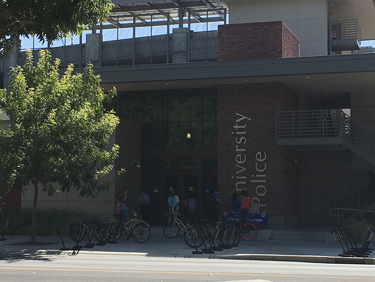 Outside+view+of+the+University+Police+Department.+Photo+credit%3A+Kayla+Fitzgerald