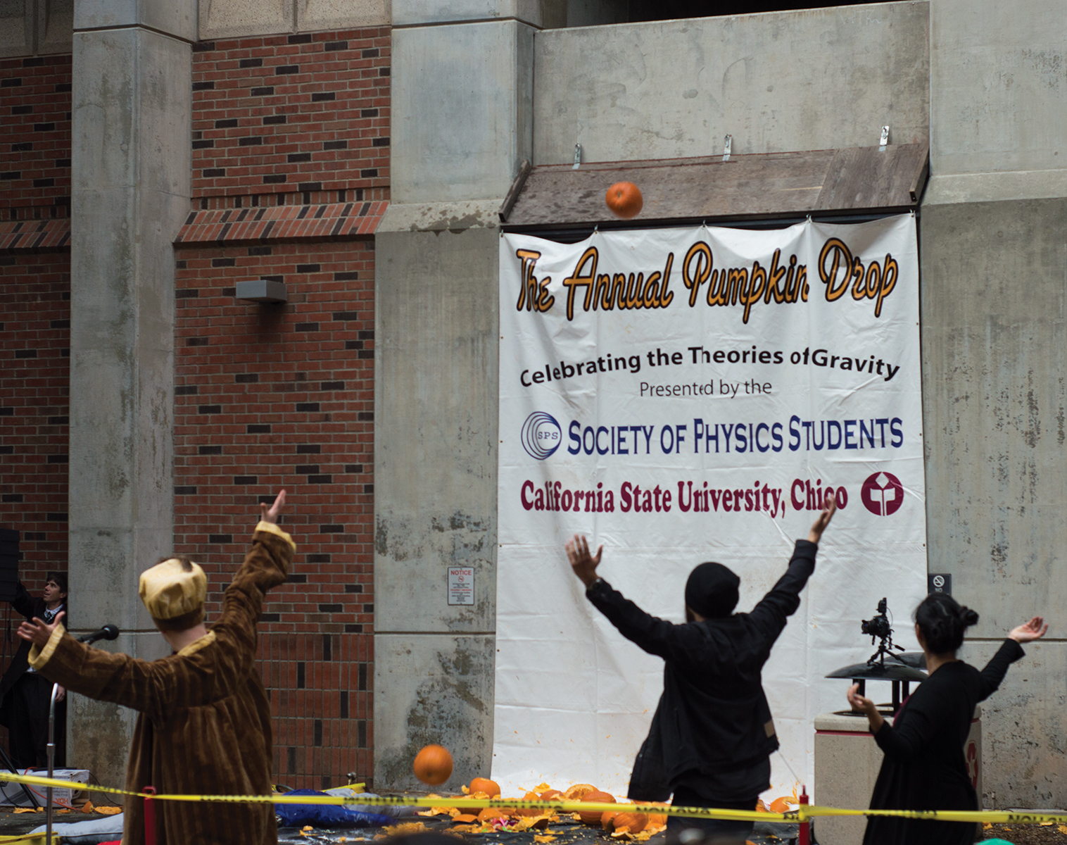 The Annual Pumpkin Drop is on its way! Photo credit: Sean Martens