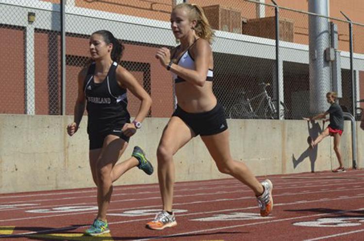 Sadie+Gastelum+leads+the+Wildcat+cross+country+practice.+Photo+credit%3A+Jordan+Jarrell