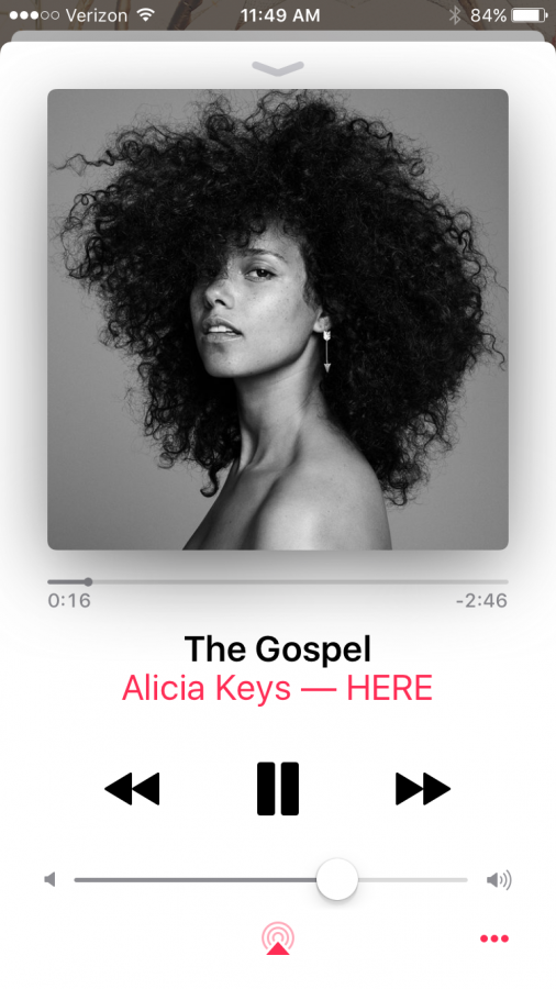 Alicia+Keys%27+%22The+Gospel%22+as+seen+on+Apple+Music.+Photo+credit%3A+Rylee+Pedotti