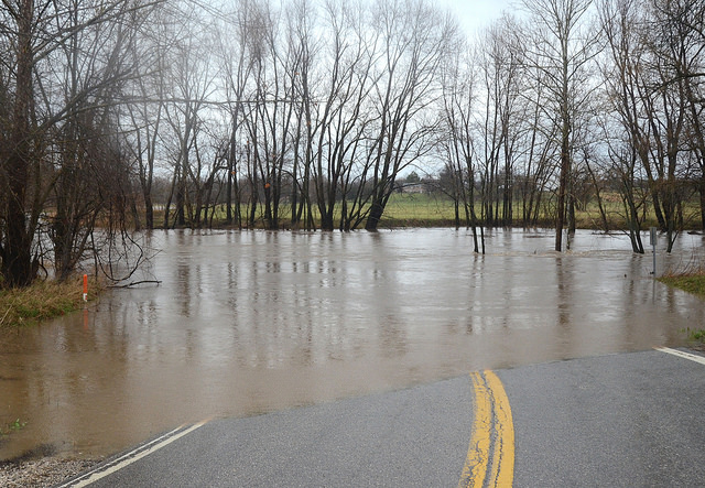 Flooding+from+nearby+waterways+causes+road+closures.+Photo+courtesy+of+Ryan+Levi