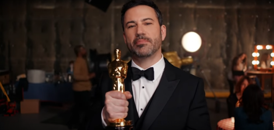 Host+Jimmy+Kimmel+doing+promotional+ad+for+the+Academy+Awards.+Screenshot+from+The+Oscars%27+youtube+page.
