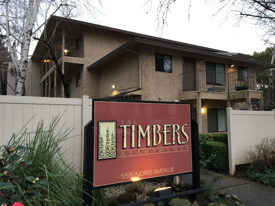 This is one of CSU Living's properties, The Timbers.