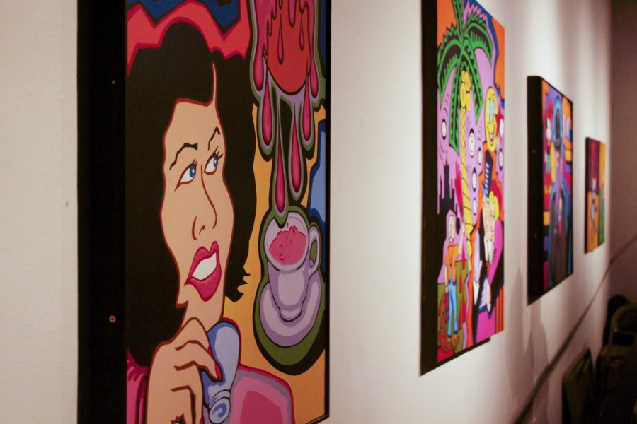 Some of the art at the 1078 Gallery Photo credit: Jenny Salazar