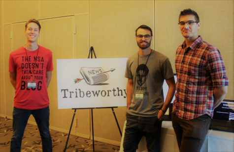 Left to right: Jared Fesler (Brand Manager), Chase Palmieri (CEO), Austin Walter (Lead Developer) of Tribeworthy. Photo courtesy of Chase Palmieri