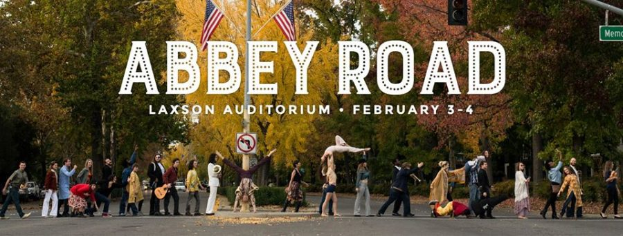 The cast of Abby Road crosses Esplanade in a Beatles like fashion Photo credit: Courtesy of Uncle Dad's Art Collective