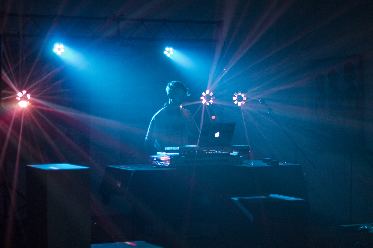 Dplx shows off his DJ skills during his performance at 1078 Gallery hosted by Underhouse Music Photo credit: Natasha Doron