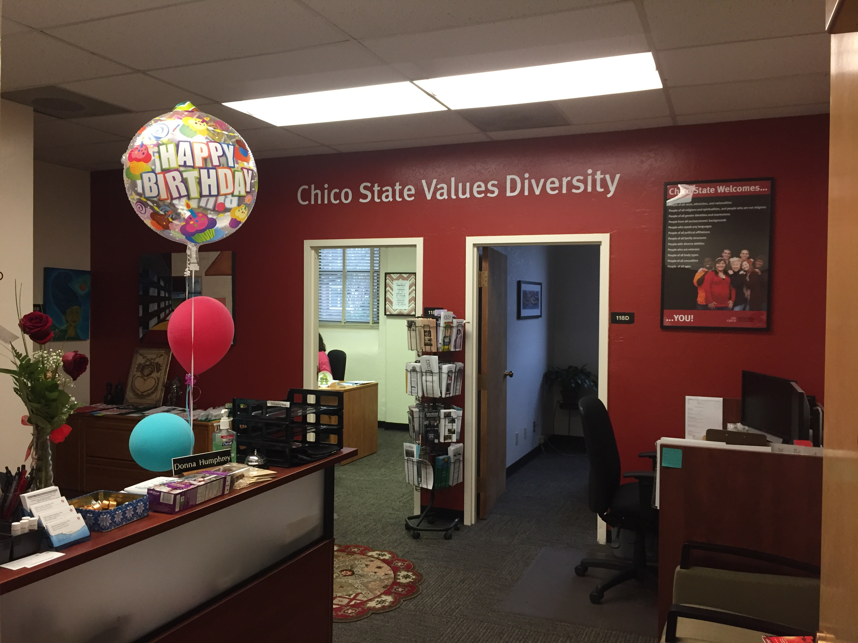 CSU Chico Office of Diversity and Inclusion Photo credit: Carly Campbell