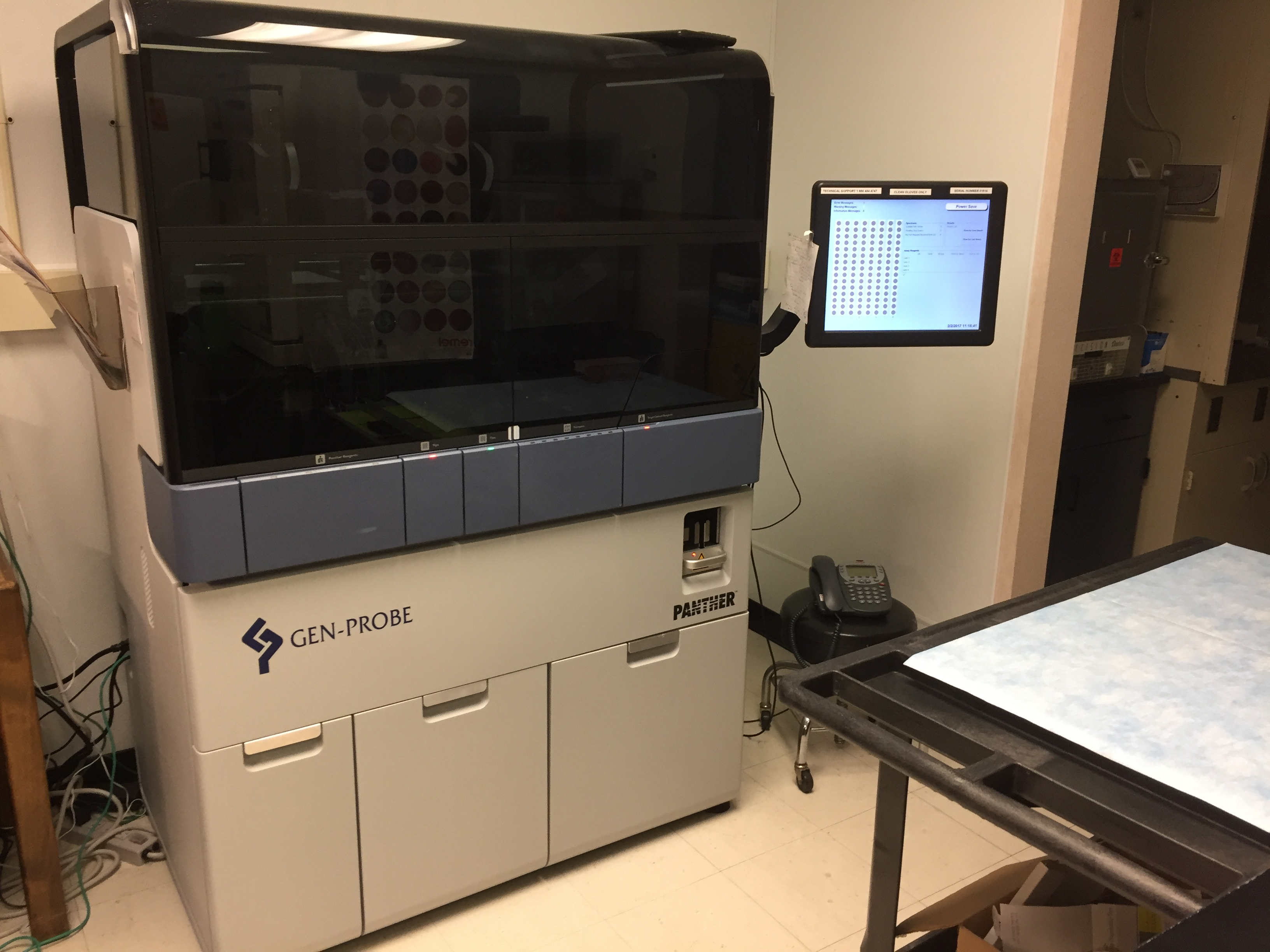 High tech machine that gets Chlamydia test results in under four hours. Photo credit: Carly Campbell