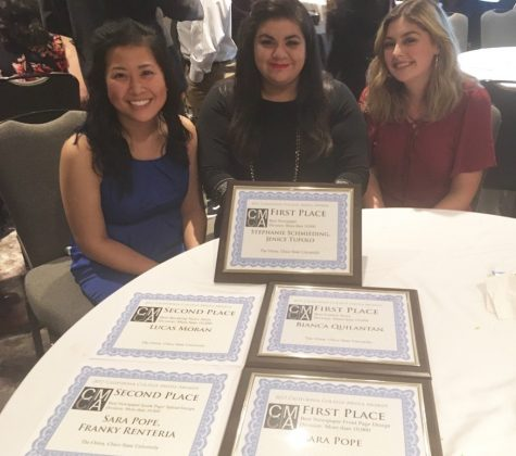 The Orion took home seven awards at the Associated Collegiate Press Convention. Photo credit: Mark Plenke