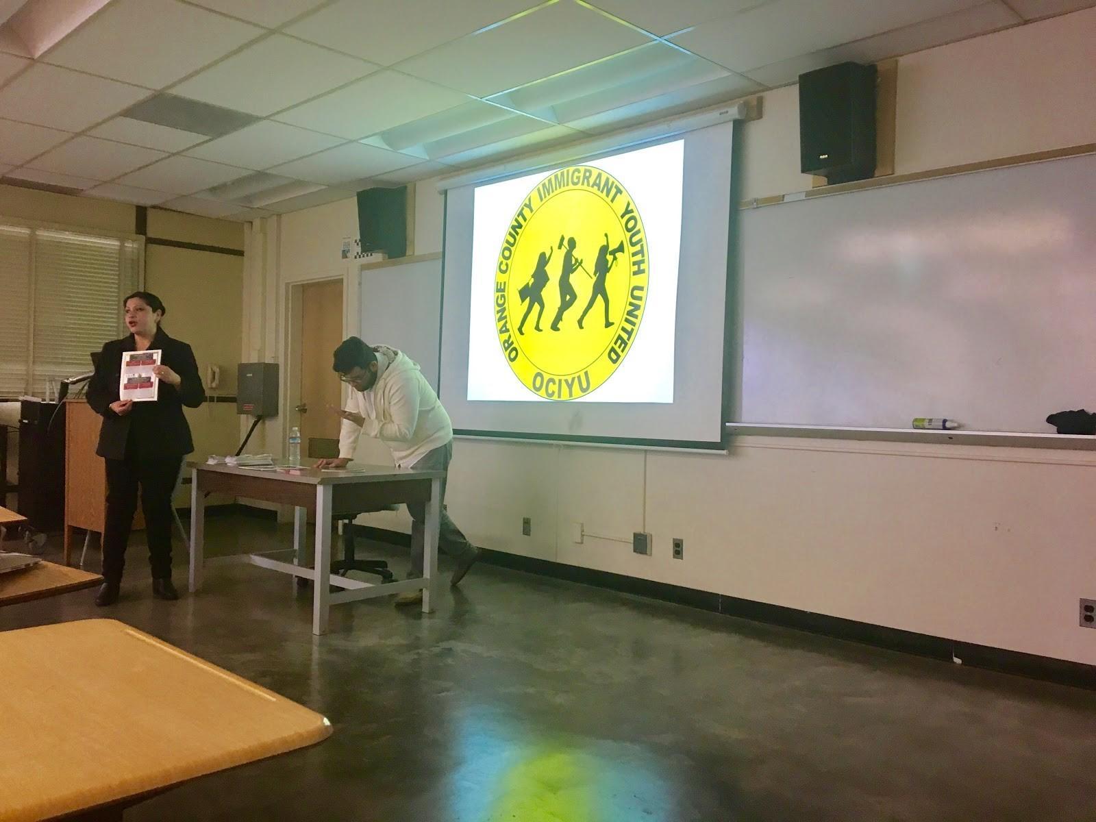 Know your rights workshop with Elizabeth Alaniz and Aldo Photo credit: Allison Clark