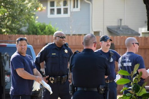 Police officers patrolling the streets of Chico during Cesar Chavez weekend last year. Photo credit: Michael Catelli