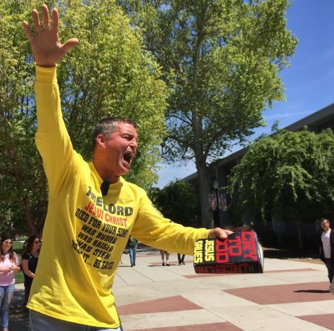 Evangelist preacher comes to campus and meets humorous backlash