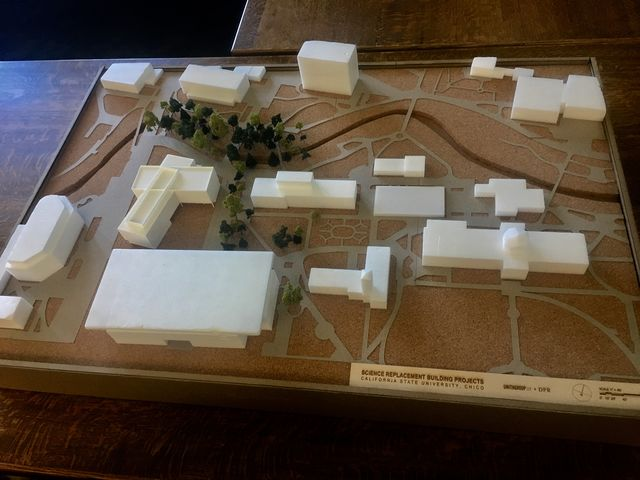 A model representation of the area where the Siskiyou Replacement Building Project focuses on.