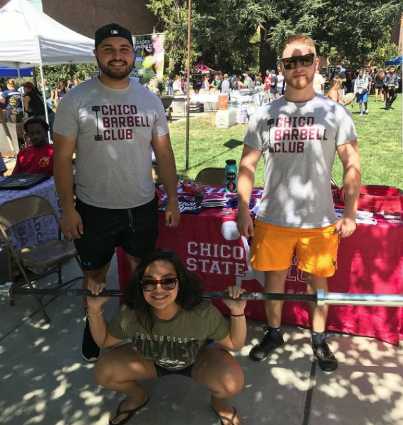 A couple club members table for their event. Photo courtesy of the Chico State Barbell Club