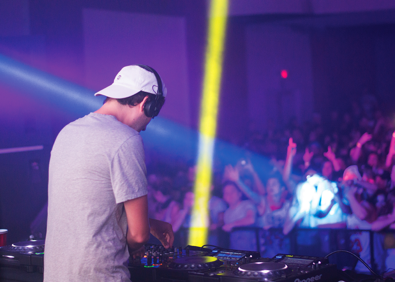 Local DJs play stage-side with Baauer at the Senator
