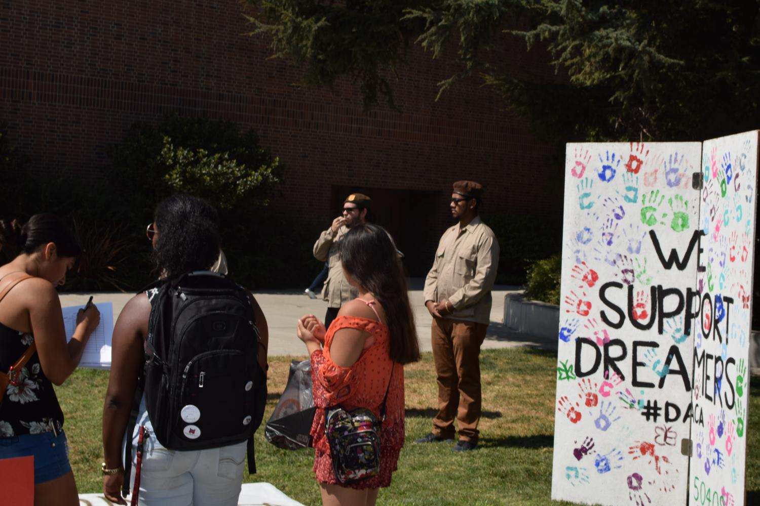 Brown+berets+speak+at+the+DACA+protest.+Photo+Credit%3A+Anisha+Brady++
