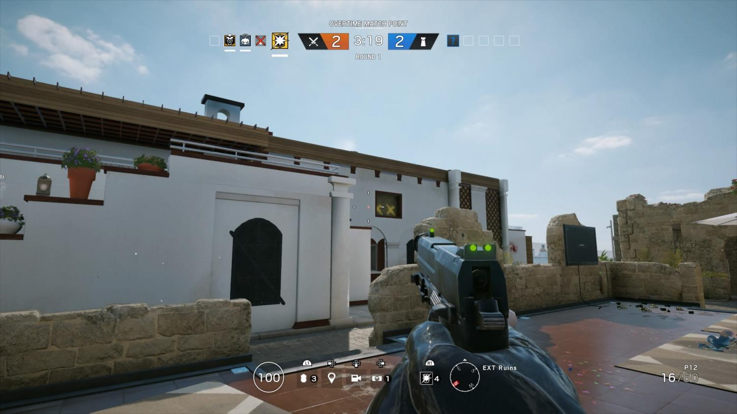 Coastline, one of the game's better looking maps. Attackers begin on the outside of a building while defenders are always inside. Photo credit: Ulises Duenas