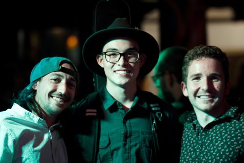 Photo of Chico Unplugged winners (from left to right: Bradley Relt, Jared Kreuzberger, Thom Lacalle) Photo credit: Caitlyn Young