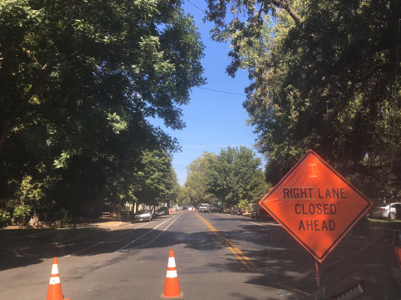 Road closed between 9th and 10th streets. Photo credit: Luke Dennison