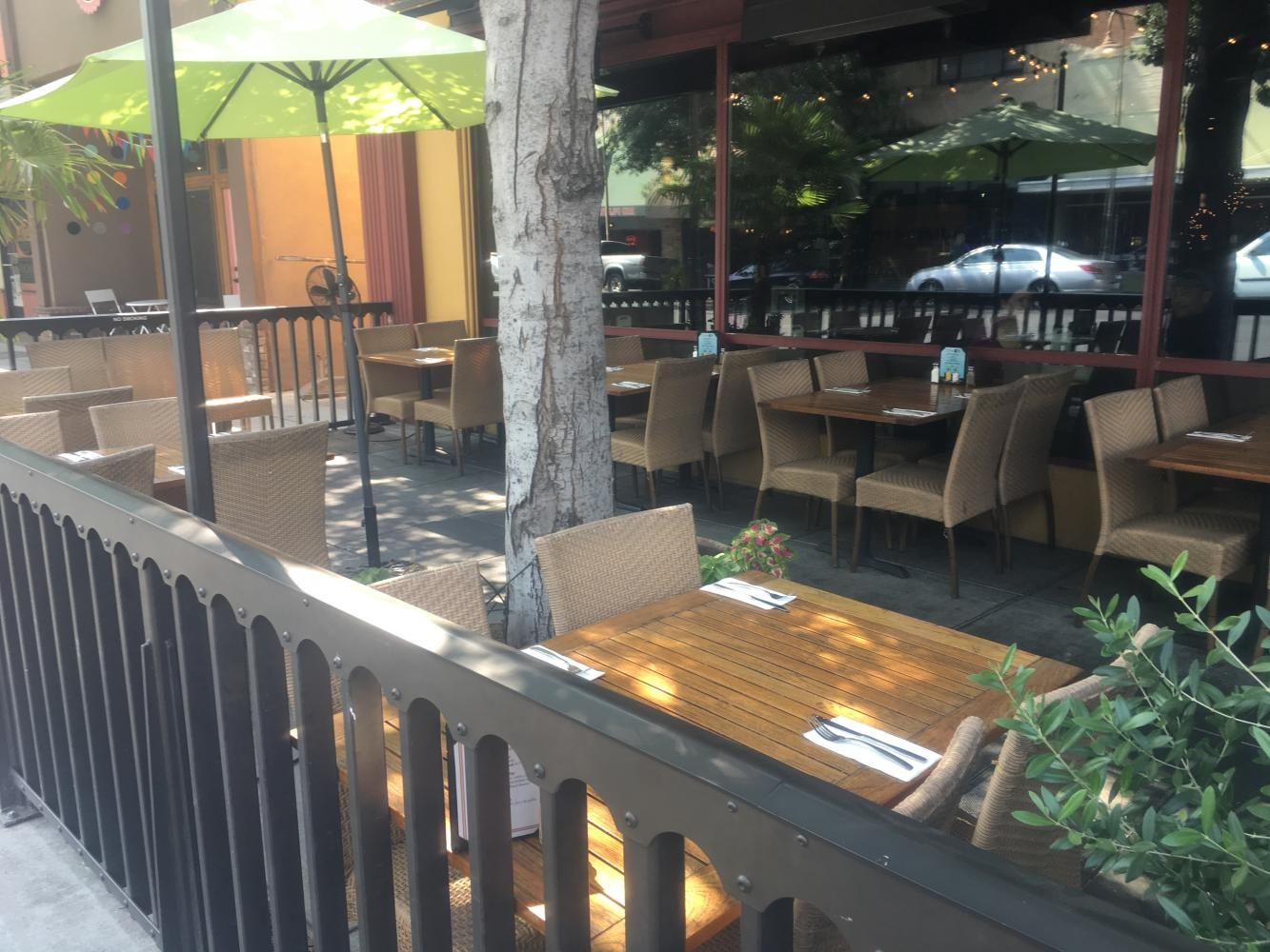The table at Tres Hombres where a Chico man claims his phone was almost stolen. Photo credit: Natalie Hanson