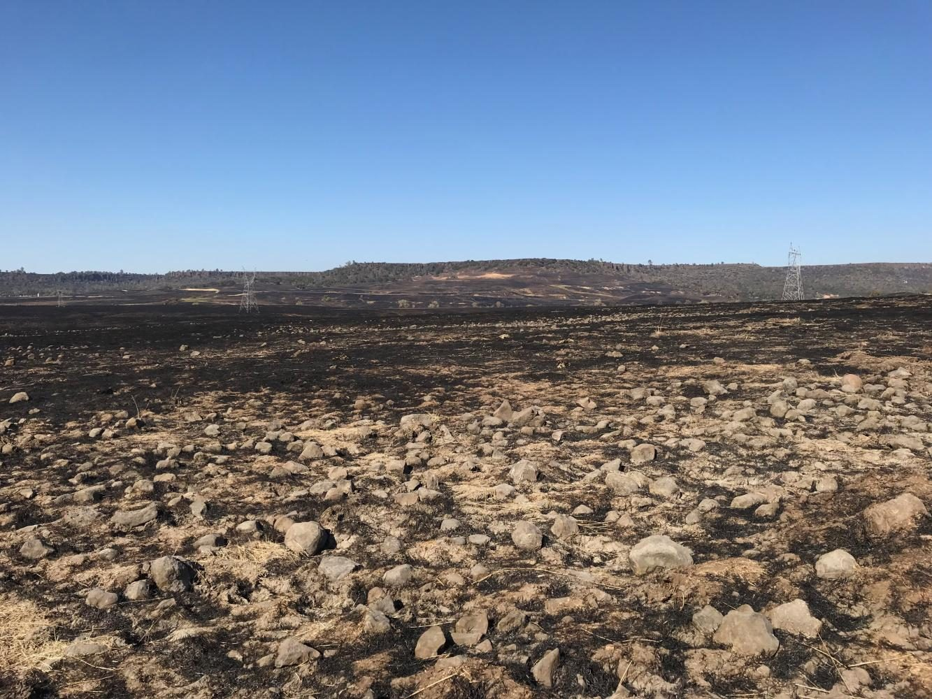 Cherokee fire burned across table mountain and came close to highway 70. Photo credit: Christian Solis