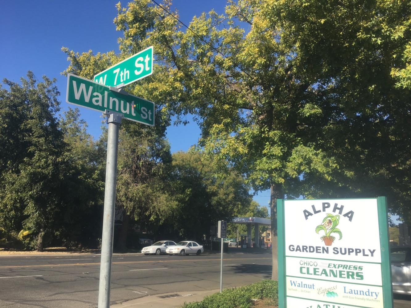 A woman was beaten and robbed near Highway 32 on Monday near 7th and Walnut Street. Photo credit: Natalie Hanson