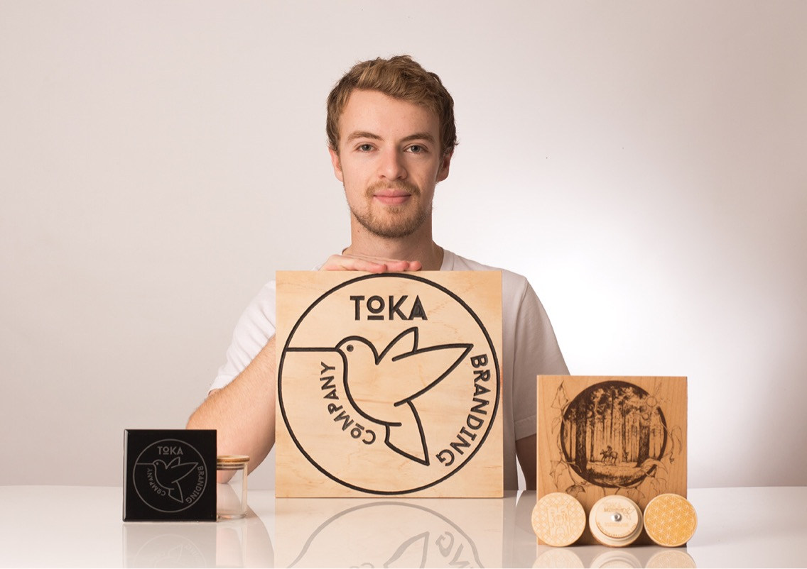 Aaron Bursten created TOKA Branding, a laser-cutting business Photo credit: Sean Martens