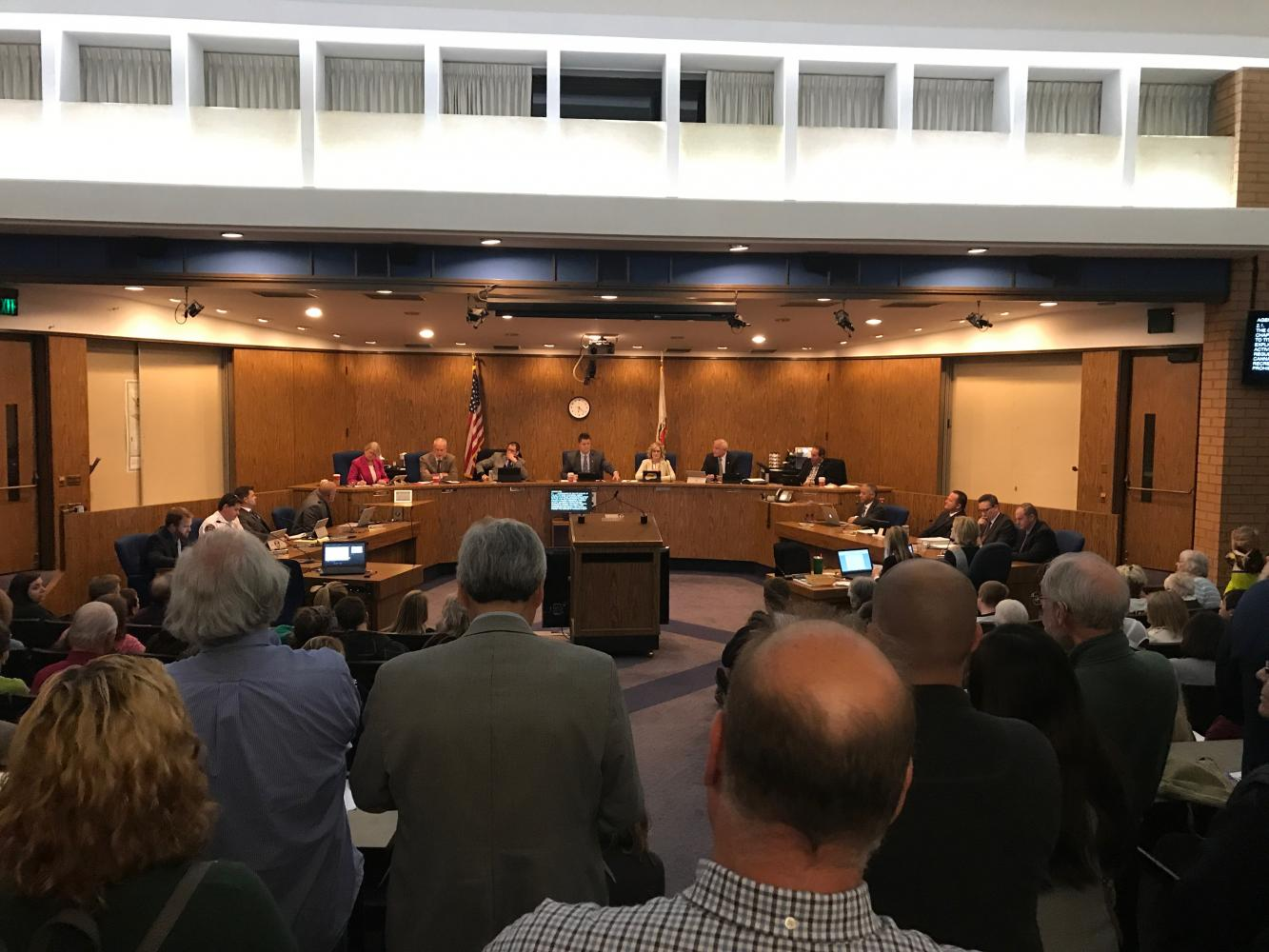 The council meeting discussed details on the sale of marijuana. Photo credit: Christian Solis