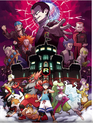 This shows the franchise's past villains, all of which can be fought in the game. image from pokemon.com