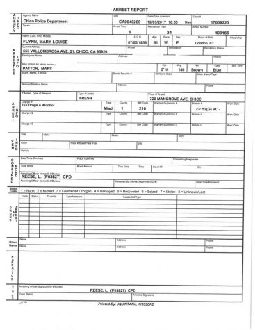 Flynn Arrest