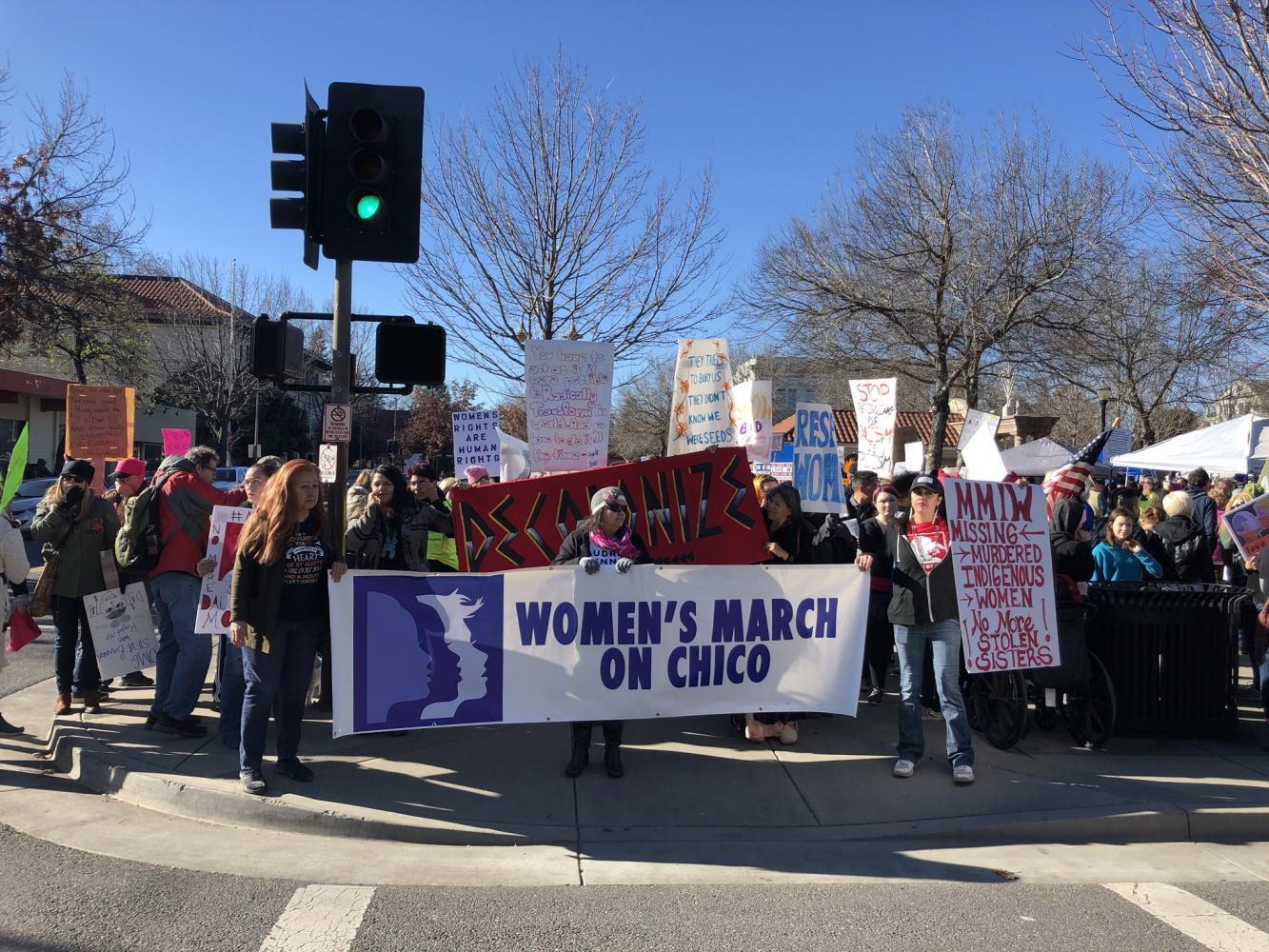 Start of the Women's March on Chico at E. Fifth Street.