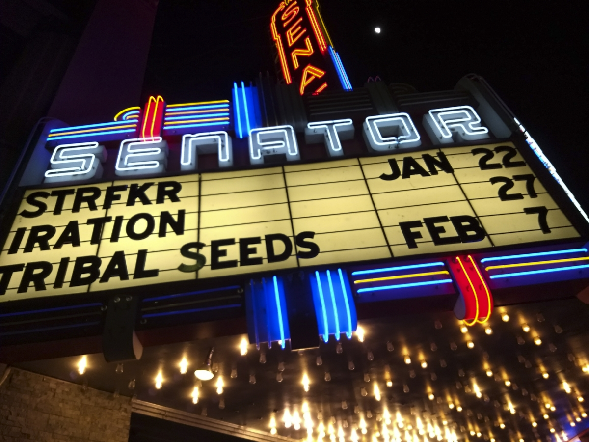 On Saturday January 24th, reggae group Iration took to the stage at the Senator Theater in Chico. All members originally hail from Hawaii, and they are considered one of the leading bands in the genre of