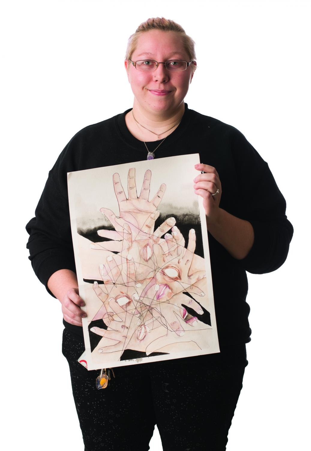 Madison Cockrum has learned art through anime. Photo credit: Sean Martens