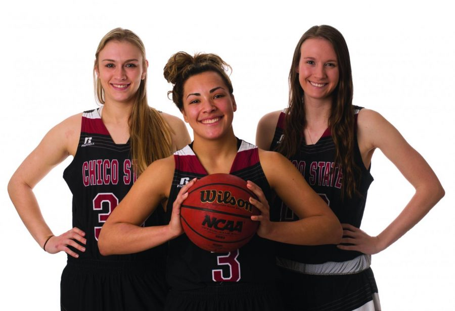 Senior basketball players Kayla Taylor (left), Whitney Branham (middle) and Haley Cremen (right) sat down to talk to The Orion about their senior season. Photo credit: Sean Martens