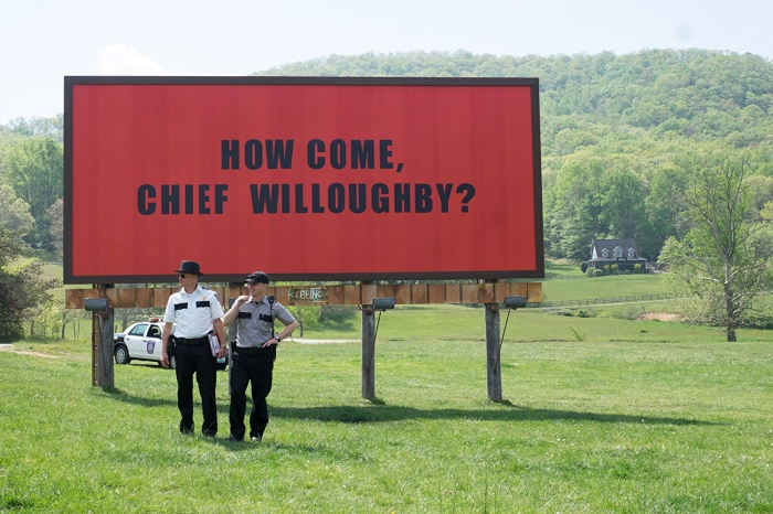 Woody Harrelson and Sam Rockwell star in Three Billboards Outside Ebbing, Missouri.   Fox Searchlight Pictures' photo.