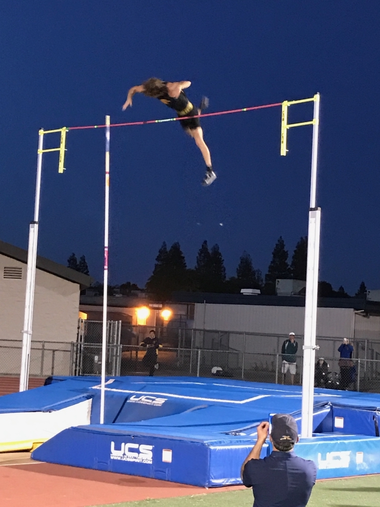 Chico State pole vaulter Lance Huber hopes to make the 2024 Olympics. Photo courtesy of Lance Huber