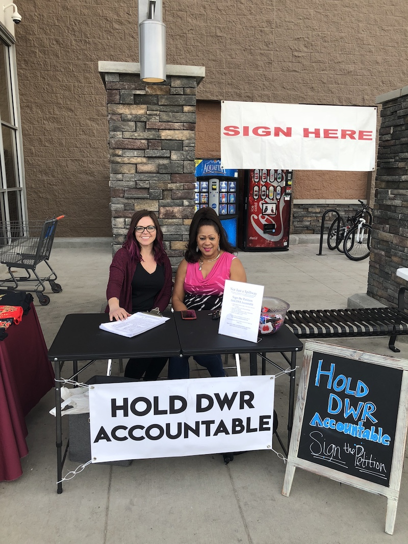 Genoa Widener (left) hosting a petition signing outside the Oroville Walmart. Many people showed up to show their support including Vice Mayor of Oroville Janet Goodson (right), Feb. 4. Photo courtesy Genoa Widener.