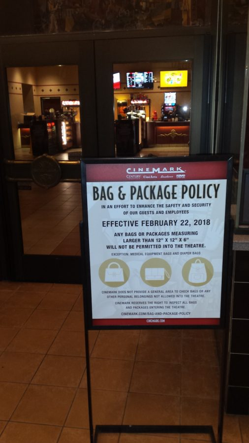 Cinemark+Tinseltown+in+Chico+instilled+its+new+bag+policy+on+Thursday.+Photo+credit%3A+Josh+Cozine