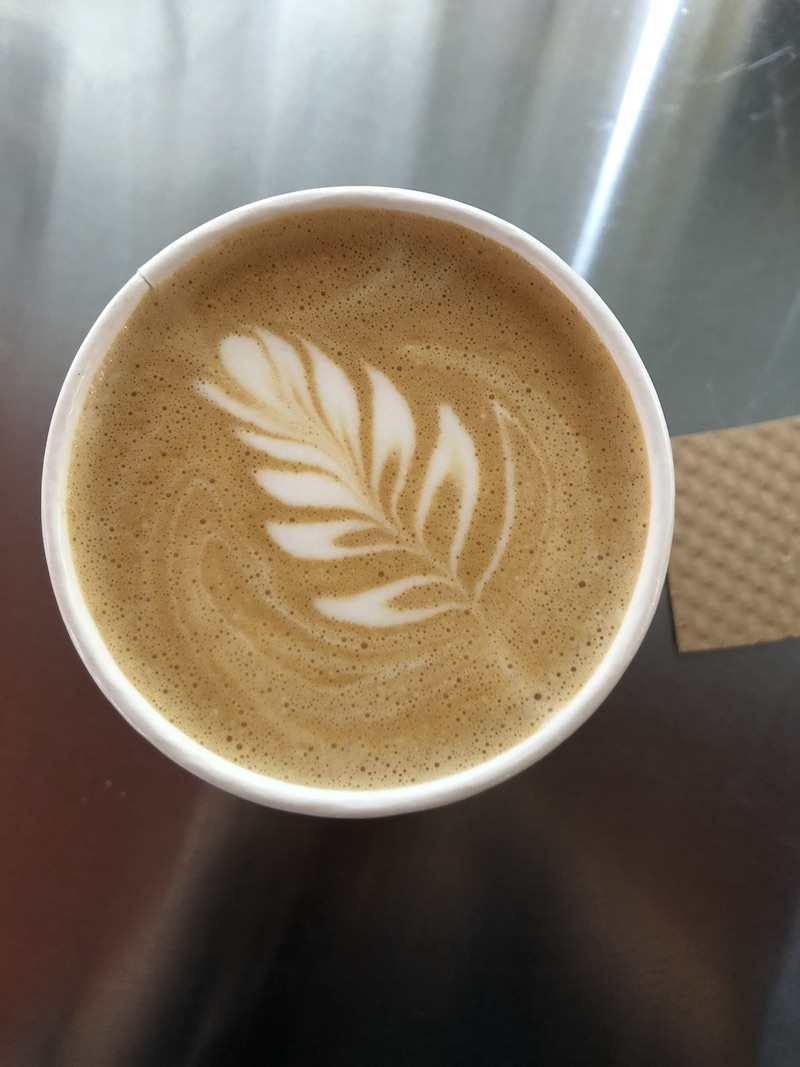 A+fresh-brewed+plain+latte+at+Great+Northern+Coffee.