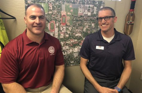 Michael Guzzi and Jason Whiteley are lead consultants for information on the new Siskiyou Hall building project. Photo credit: Natalie Hanson