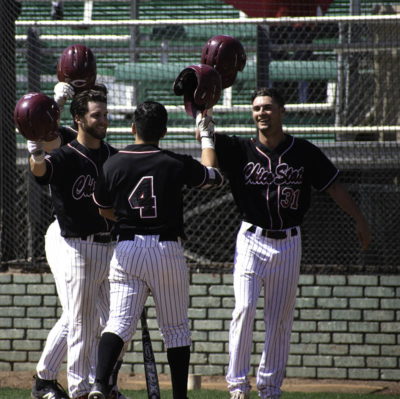 Wildcats+second+baseman+Louie+Canjura+celebrating+after+his+first+career+home+run+Sunday.+Photo+credit%3A+Martin+Chang