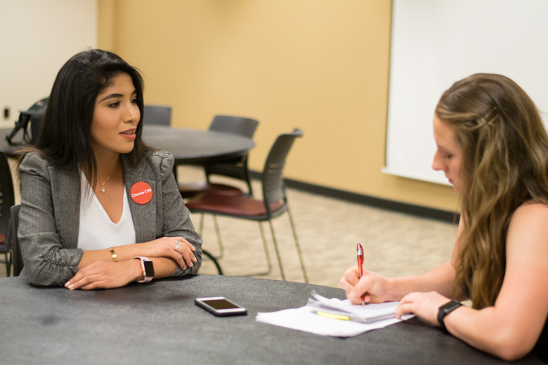 Orion reporters interviewed 16 out of the 18 A.S. candidates on Tuesday. Photo credit: Kate Angeles