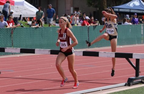 Haley Boynton participates in the 3,000 meter steeplechase. Photo Courtesy: Gary Towne Photo credit: Gary Towne
