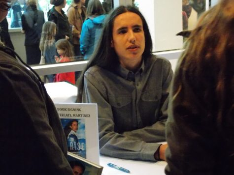 Environmental activist Xiuhtezcatl Martinez speaks at the BMU