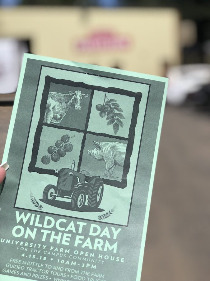 Flyer showcasing the 'Wildcat Day on the Farm' event. Photo credit: Alejandra Fraga