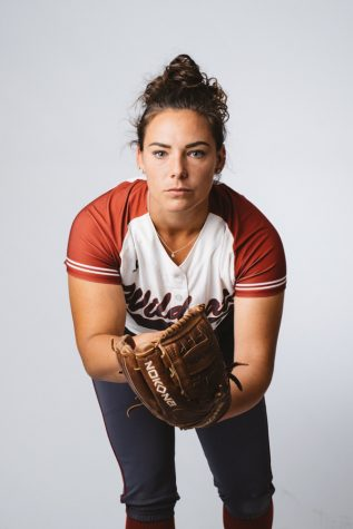 11 time CCAA pitcher of the week Haley Gilham leads the league in wins, shutouts and complete games. Photo credit: Kate Angeles