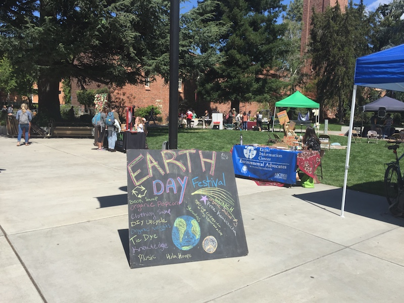 Local environmental and food groups combined forces to host the Earth Day Festival at Trinity Commons on Thursday. Photo credit: Josiah Nicholl