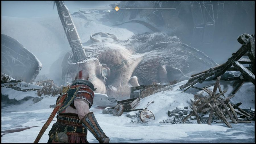 Kratos+stands+in+front+of+dead+Giant+that+was+killed+by+Thor.+Photo+credit%3A+Ulises+Duenas