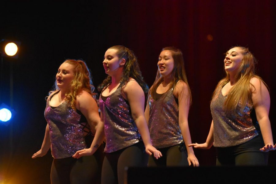 %28Left+to+right%29+Alexyss+York%2C+Bailey+Gould%2C+Sarah+Fong+and+Alex+Mendoza+perform+a+tap+dancing+number+to+Christina+Aguilera%27s+%22Express.%22+Photo+credit%3A+Julia+Maldonado